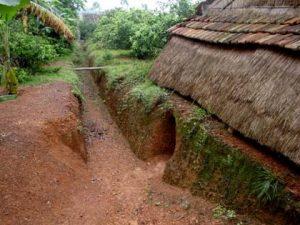 Những con hào khi xưa được người dân sử dụng trong chiến tranh